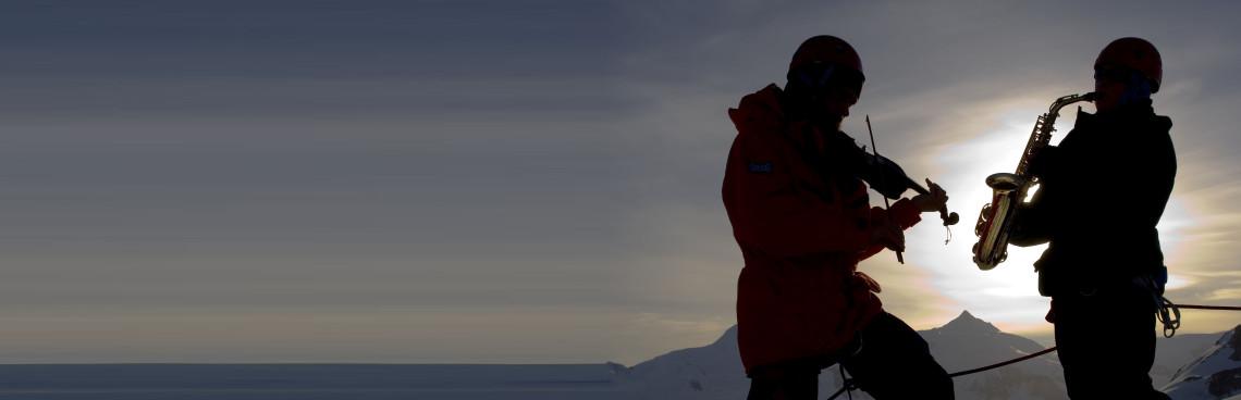 Ali in Antartica